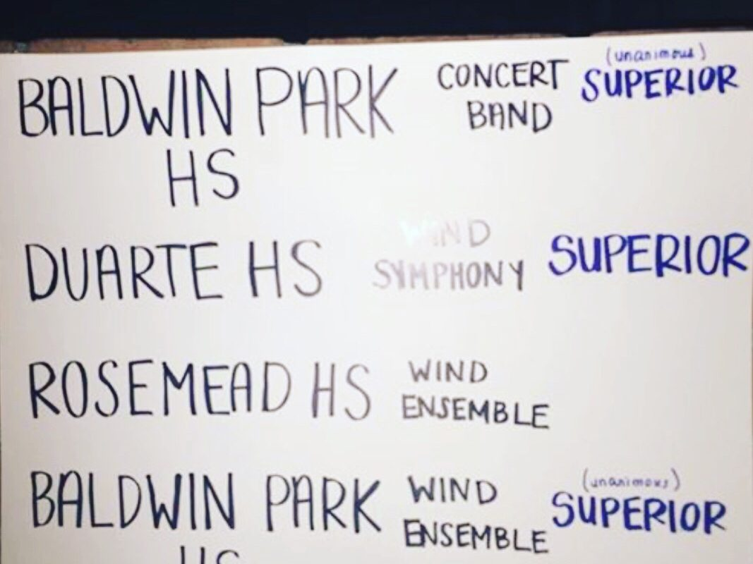 BPUSD Band and Orchestra Festival Unanimous Superior