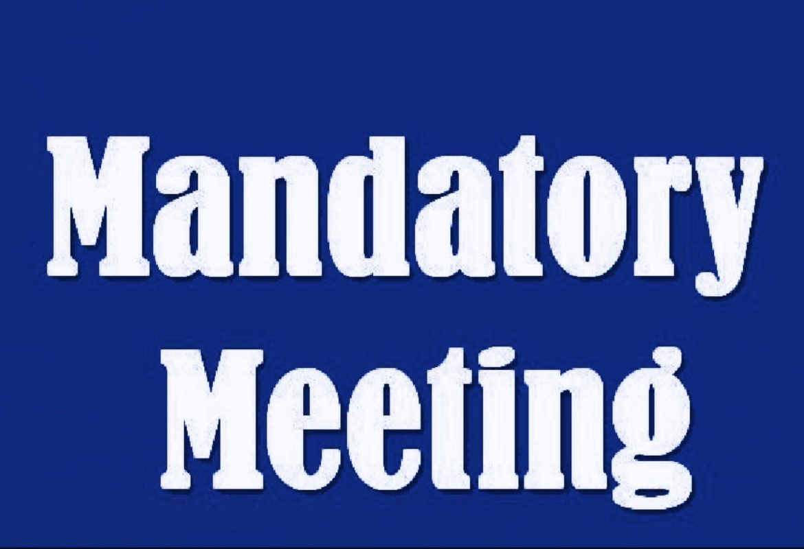 Event: Mandatory Parent Meeting!