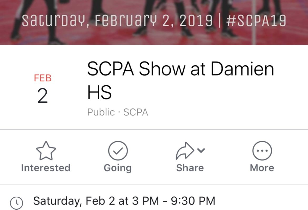 Event: SCPA – Damien HS