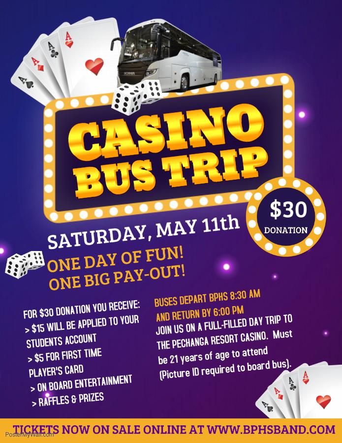 Casino Bus Trip Flyer